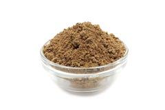 Kakaowy proszek szklany zbiornik Obraz Royalty Free