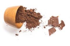 Kakaowy proszek w puchar Zdjęcie Stock