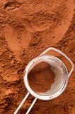 Kakaowy proszek z arfą Obrazy Stock