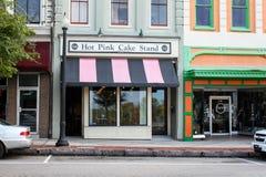 Kakaställning för varma rosa färger, Wilmington, North Carolina Royaltyfri Fotografi