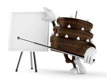 Kakatecken med tom whiteboard Fotografering för Bildbyråer