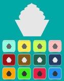 Kakateckensymbol Runda färgglade 12 knappar Royaltyfri Foto