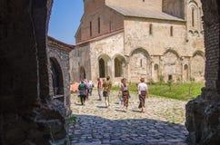 KAKHETI, GEORGIË - Augustus 4, 2016: Alaverdi - klooster en kathedraal, officieel de Kathedraal van St George in Royalty-vrije Stock Afbeelding