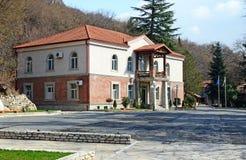Kakheti, 3 Georgië-Maart, 2015: Harebawijnmakerij - de bureaubouw in Kakheti-Gebied, Georgië Stock Afbeelding