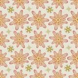 Άνευ ραφής σχέδιο λουλουδιών στο μπεζ και Kaki - χλωμά χρώματα κρητιδογραφιών Στοκ εικόνα με δικαίωμα ελεύθερης χρήσης