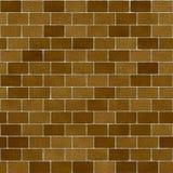 Kaki Bruin Clay Bricks Seamless Texture Royalty-vrije Stock Foto