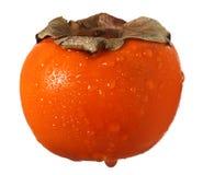 Kaki de fruit de Sharon avec des baisses de l'eau Images libres de droits