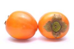 Kaki fruits. Jiro kaki, japanese persimmon isolated on white Stock Photo