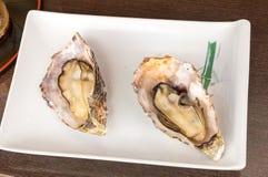 Kaki Fry, Fried Oysters Seafood, Hiroshima Giappone Fotografie Stock