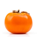 Kaki Persimmon on White Royalty Free Stock Photos