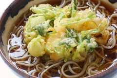 Kakiage soba , japanese noodle dish Stock Photo