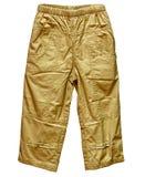 Kakifarbige Hosen getrennt auf Weiß Stockfotografie
