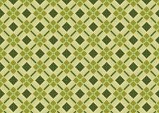 Kakifarbiges grünes Diamant-Muster stockfoto