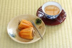 Kakis secs japonais, bonbons japonais image libre de droits