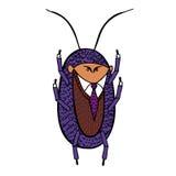 Kakkerlak in een goed kostuum Stock Foto's