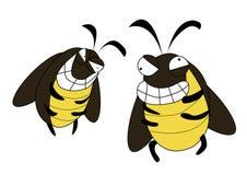 Kakkerlakken gek beeldverhaal Royalty-vrije Stock Foto