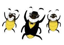 Kakkerlakken gelukkig beeldverhaal Royalty-vrije Stock Afbeelding