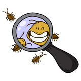 Kakkerlakkenbeeldverhaal, vector Stock Afbeeldingen