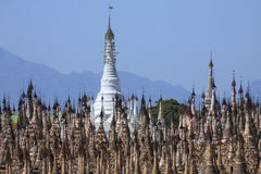Kakku寺庙复合体-掸邦-缅甸 库存照片