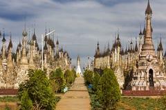Kakku寺庙,缅甸 免版税库存照片