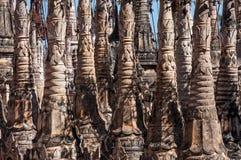 Kakku Pagoda Complex. Stupa spires in the Kakku Pagoda Complex in Myanmar Royalty Free Stock Photos