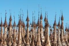 Kakku Pagoda Complex. Stupa spires in the Kakku Pagoda Complex in Myanmar Stock Photos