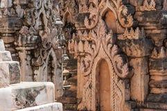 Kakku Stupas. Detail of stupas in Kakku near the Inle lake in Myanmar Royalty Free Stock Photography