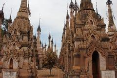 Kakku tempel, Myanmar Royaltyfri Fotografi