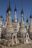 Kakku tempel Stupa - Shan påstå - Myanmar Fotografering för Bildbyråer