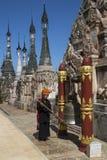 Kakku tempelkomplex - Shan påstå - Myanmar Royaltyfria Bilder