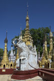 Elephant Stupa - Kakku Temple - Myanmar (Burma) Royalty Free Stock Photography