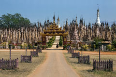 Kakku Temple Complex - Shan State - Myanmar. Rows of Stupa in the Kakku Buddhist Temple in Shan State in Myanmar (Burma). This ancient temple has 2478 stupa and royalty free stock photography