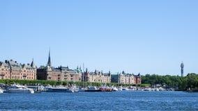 Kaknastornet e Strandvagen in Ostermalm, Svezia fotografie stock