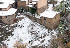 Kakopetria village during winter Troodos Cyprus Stock Image