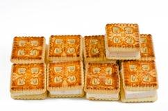Kakor bakar, bakat, efterrätten, bagerit, socker, sött som är smakligt Arkivbilder