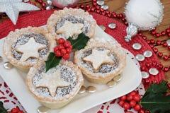 Kakor för julfärspaj Royaltyfri Bild