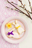 Kakor för socker för påskkanin Arkivfoton