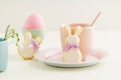 Kakor för socker för påskkanin Royaltyfri Foto
