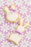 Kakor för socker för påskkanin Royaltyfria Bilder