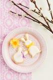 Kakor för socker för påskkanin Arkivbilder