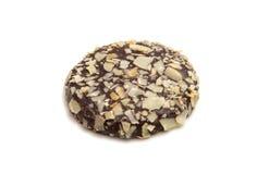 Kakor i isolerad choklad Royaltyfri Foto