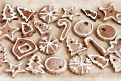 Kakor med glasyr för jul Arkivbilder