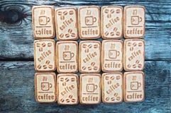 Kakor med kaffe Fotografering för Bildbyråer