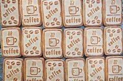 Kakor med kaffe Royaltyfria Bilder
