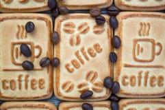 Kakor med kaffe Arkivbilder
