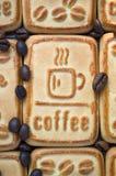 Kakor med kaffe Arkivfoton