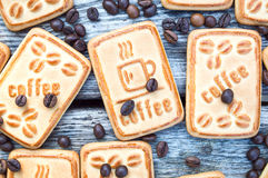 Kakor med kaffe Arkivbild