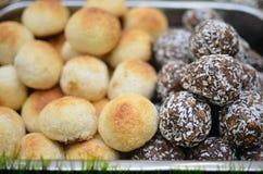 Kakor med kokosnöten Fotografering för Bildbyråer