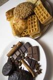 Kakor och choklad 02 Royaltyfria Bilder