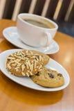 Kakor och kaffe Royaltyfri Bild